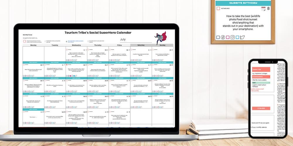Social Superhero Calendar