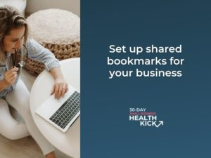 setting up shared bookmarks for your business