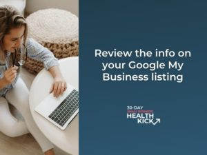 Updating your google my business listing