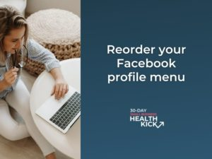 How to reorder the menu on your Facebook page