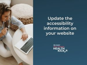 accessibility information on your website