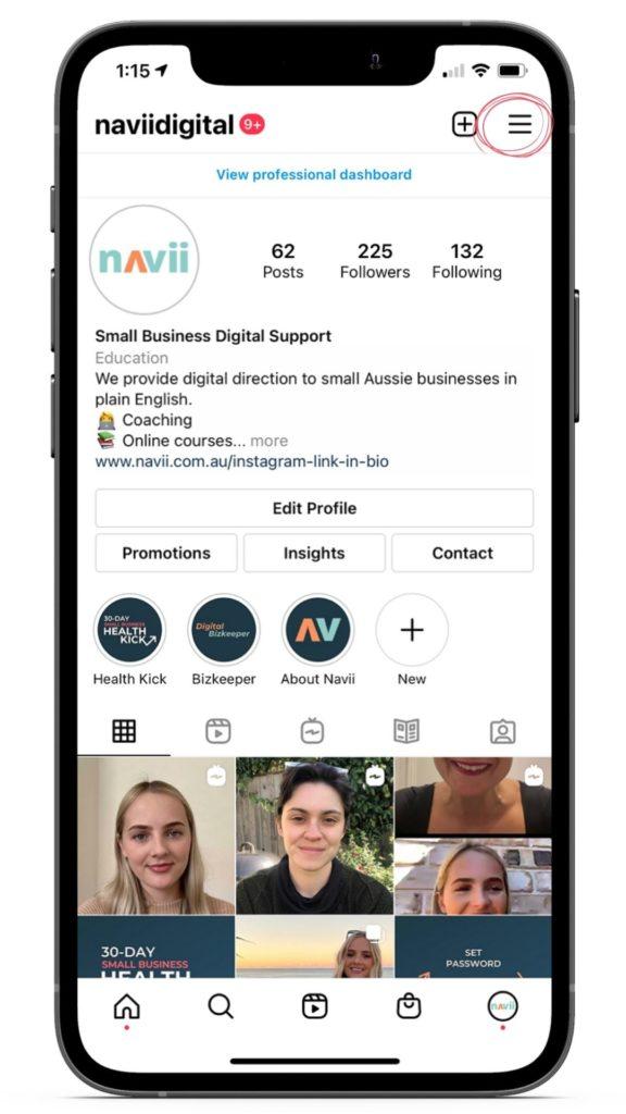 Navii Instagram Insights example