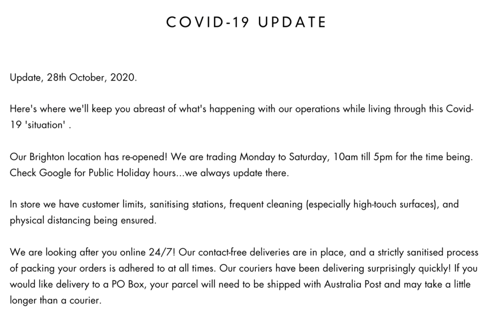 covid contact us page