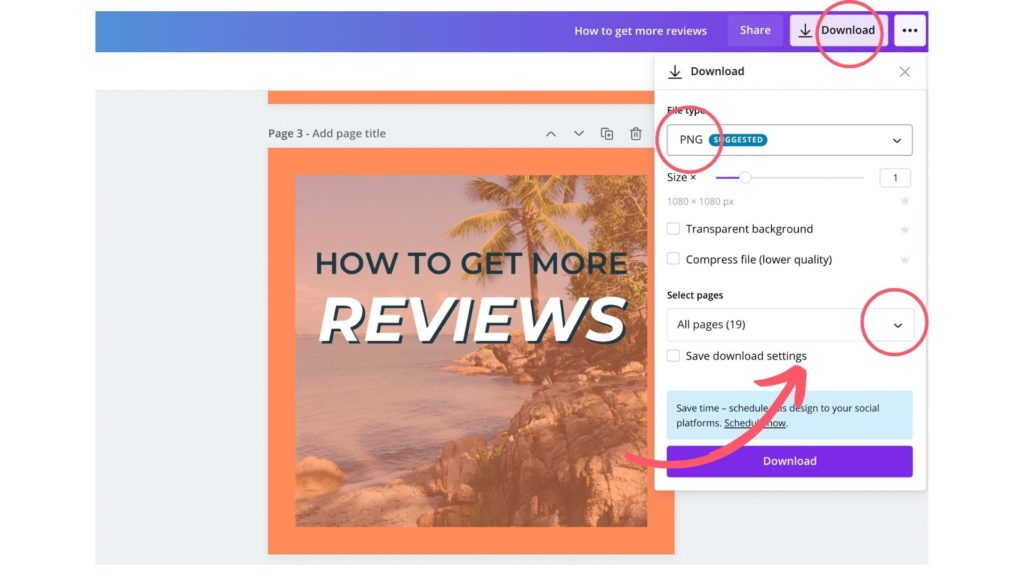 learn how to download on Canva