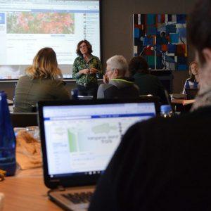 Liz presenting a workshop