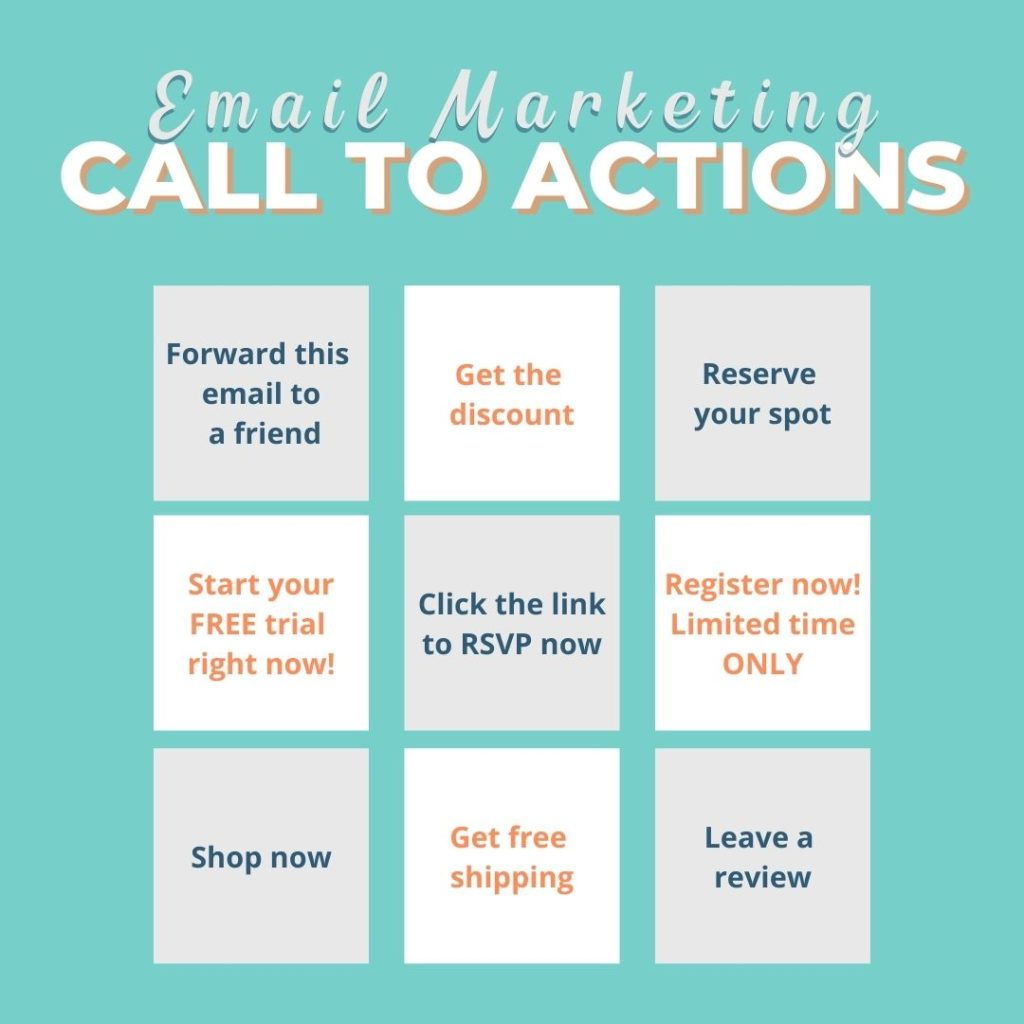 email calls to action for your marketing example