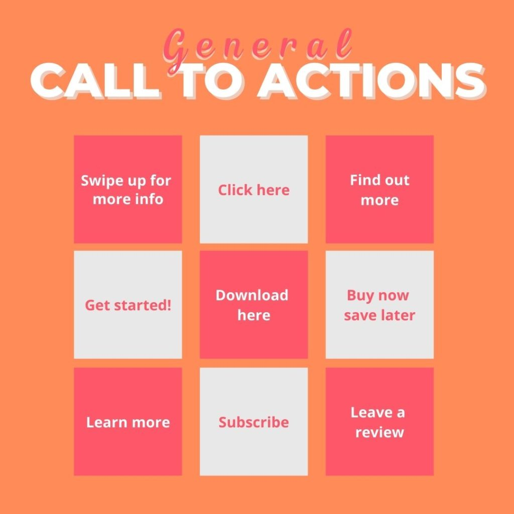 general calls to action for your marketing example
