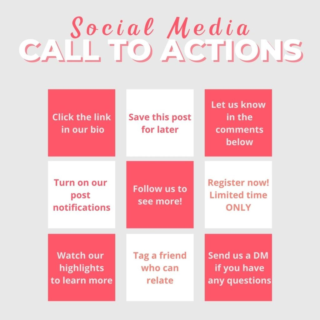 social media calls to action for your marketing